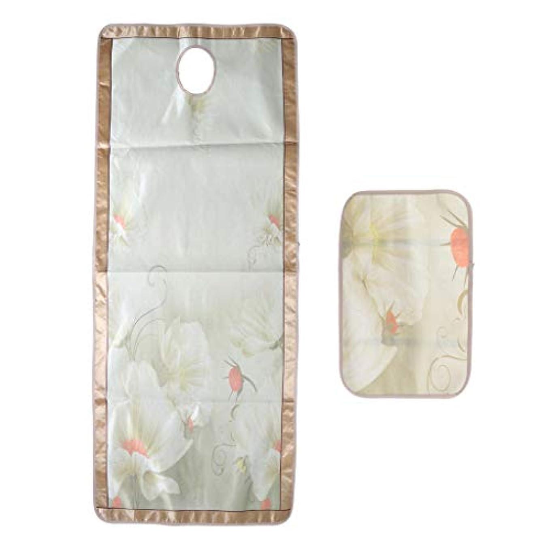 硬いインディカ服を洗うP Prettyia マッサージベッド エステベッドカバー 枕カバー付き ひんやり 敷きパッド 70×190センチ - フローラル6