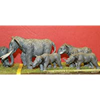 LangleyモデルCircus /動物園象+ Rhinos OOスケール未塗装モデルキットz02