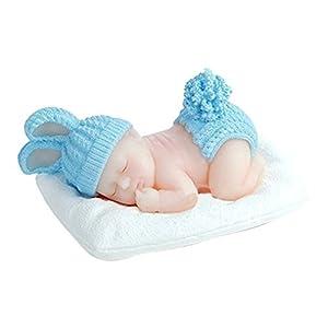 FLY 3Dケーキモールド シリコン製 眠る赤ちゃん型 フォンダン デコレーション用 ピンク COMINHKG086341