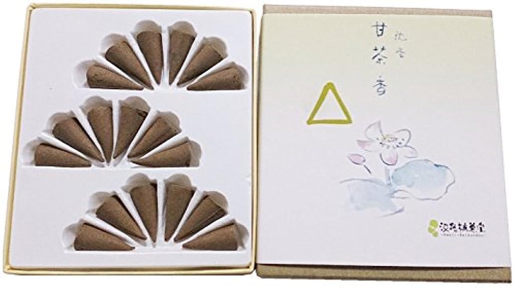 ヒューマニスティックセーブ気づくなる淡路梅薫堂のお香 沈香甘茶香 コーン型 18個入 #6 agerwood incense cones 日本製