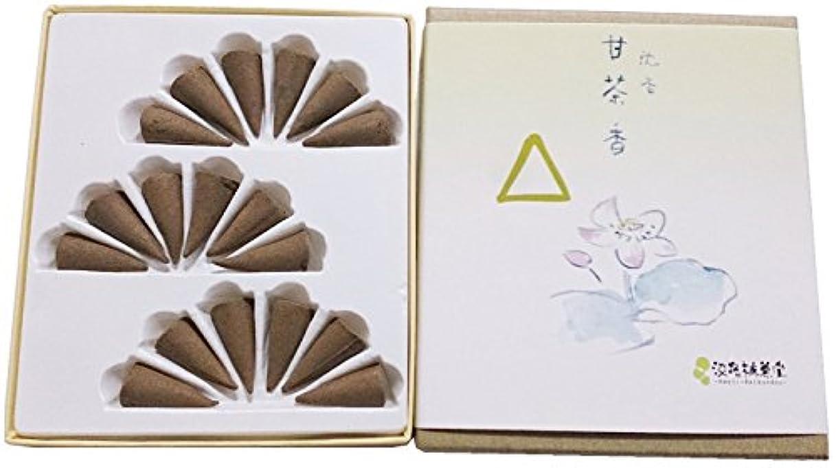 援助わな爆発淡路梅薫堂のお香 沈香甘茶香 コーン型 18個入 #6 agerwood incense cones 日本製