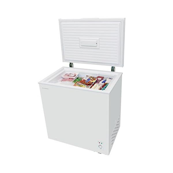 チェスト型冷凍庫 142L ホワイト 庫内灯付...の紹介画像4