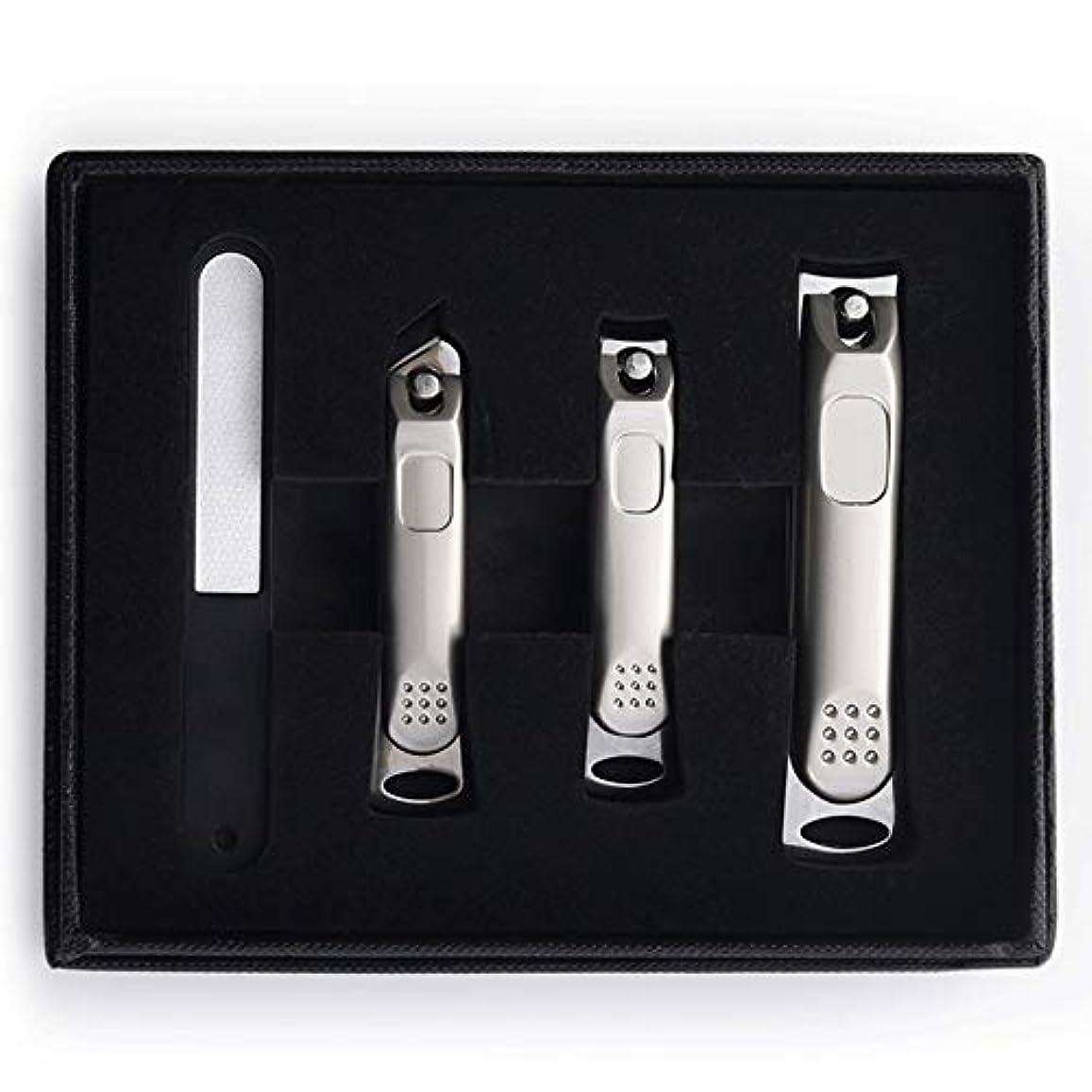 起きろスペクトラムスパークネイルクリッパーセットポータブル家庭用輸入ステンレス鋼トリムネイルクリッパーツール指の爪&足指の爪切り Blingstars (Color : Silver)