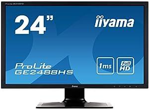 iiyama ゲーミングディスプレイ GE2488HS-B1 24型(1ms/1920x1080/DVI-Dx1/HDMIx1/D-subx1)