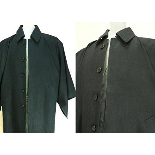 男性 和装コート 角袖 黒 Mサイズ (ブラック)