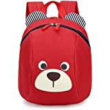 """Kingrock Age 1-2Y Cute Bear Small Toddler Backpack with Leash Children Kids Backpack Bag for Boy Girl 8.19 x 5.07 x 10.14"""""""