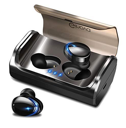 最新改良版Bluetooth5.0 自動ペアリング Bluetooth イヤホン 95時間連続駆動 ワイヤレスイヤホン 両耳 左右分離型 HiFi高音質 マイク内蔵 両耳通話 IPX7完全防水 人間工学設計 ブルートゥース イヤホン 3Dステレオサウンド CVC8.0ノイズキャンセリング SiriAAC8.0対応 充電式収納ケース付き iPhone/ipad/Android適用[技適認証済] (ブラック)