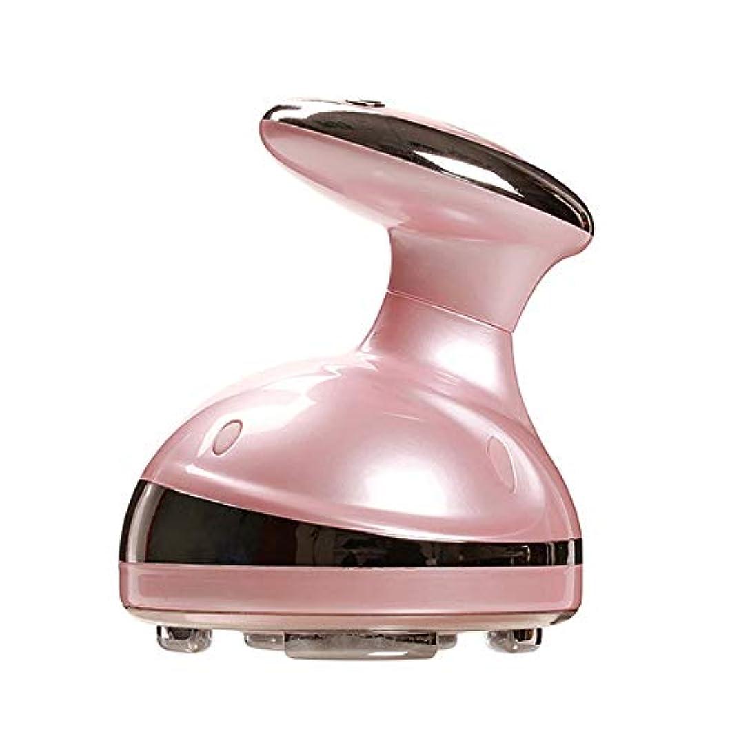 バス抑圧切り離す家庭用 振動 マッサージ 脂肪 セルライト 超音波ダイエット機 LED光エステ 家庭用 (ゴールド)