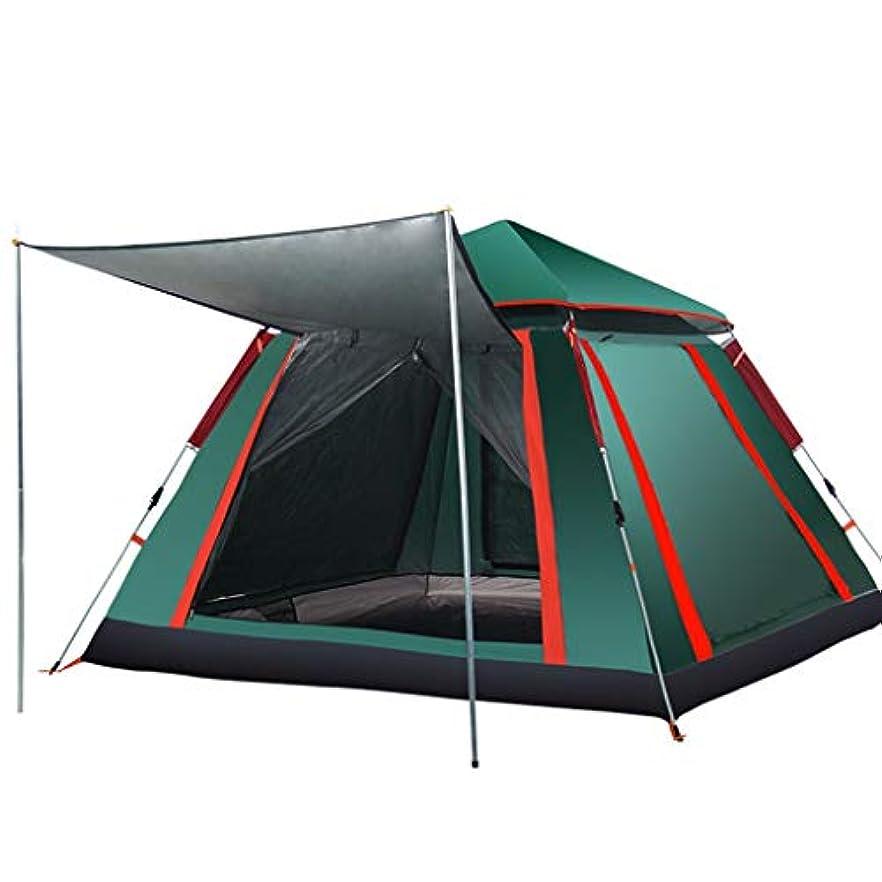 例外ラテンめまいがテント屋外3?4人全自動1部屋1部屋家族ダブル2シングルキャンプ野生の厚い防雨キャンプ