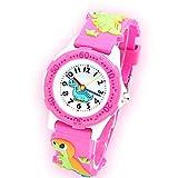 子供用 腕時計 ガールス TANOKI 可愛い 女の子 ウォッチ 恐竜 防水 キッズ 小学生 入学 お祝い クリスマス 誕生日 プレゼント ギフト Q ピンク