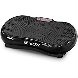 Everfit Vibration Machine Platform Plate Exercise Body Shaper Slimmer Power Fit Vibrating Fitness Black Oscillating Straps Home Gym
