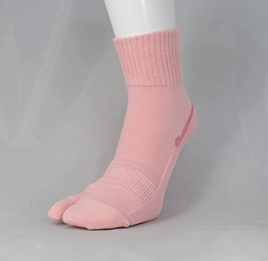 等価成功する光沢【あしサポ】履くだけで足がラクにひらく靴下 外反母趾に (Mサイズ(23-24センチ), ピンク)