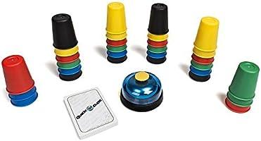 QUN FENG スピードカップス Speed Cups Quick Cups カップ増量 積み重ねるゲームセット スピード競争 速度カップ 知育ゲーム スポーツスタッキング 30個 2~6人 Speed Stacks 子供