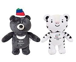 2018 平昌冬季オリンピック公式マスコット人形 (Pyeongchang Winter Olympic Official Mascot Dolls) Bandabi & Suhorang (2個入り) [海外直送品]