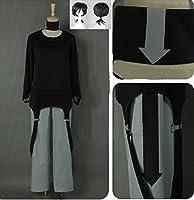 HALLE SHOP---カゲロウプロジェクト コノハ(九ノ瀬 遥、ここのせ はるか) 黒ver.コスプレ衣装+ウィッグ+靴 コスチューム ハロウィン、クリスマス、イベント、お祭り仮装など (男性S, 靴サイズ(ご注文後メールで連絡ください。))