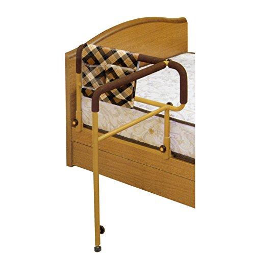 吉野商会 ささえ (ニュータイプ 移動バー付) ベッド用起上がり手すり 小物整理バッグ付