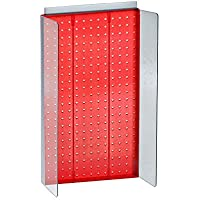 "Azar Displays 700355-RED 13.75""W x 22""H Pegboard Powerwing in Translucent Red [並行輸入品]"