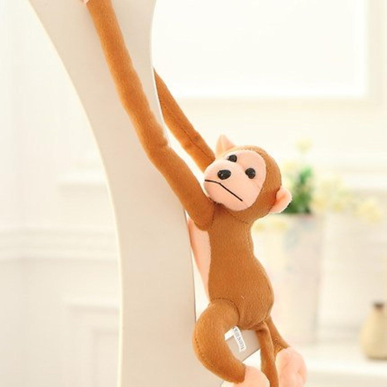 Tuersuer 早期子供用 おもちゃ かわいいクリエイティブな動物 子供用 ロングアーム プラッシュモンキーぬいぐるみ (ライトブラウン)
