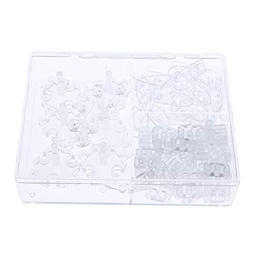 プランタートランクライブラリエンドテーブルToygogo 107ピース/個ネイルアートのヒント練習ディスホルダーセット&24xオンブル爪