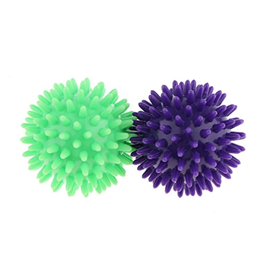 Kesoto マッサージボール スパイシー マッサージ ボール ボディトリガー ポイント 2個セット 3タイプ選べ - 紫ライトグリーン