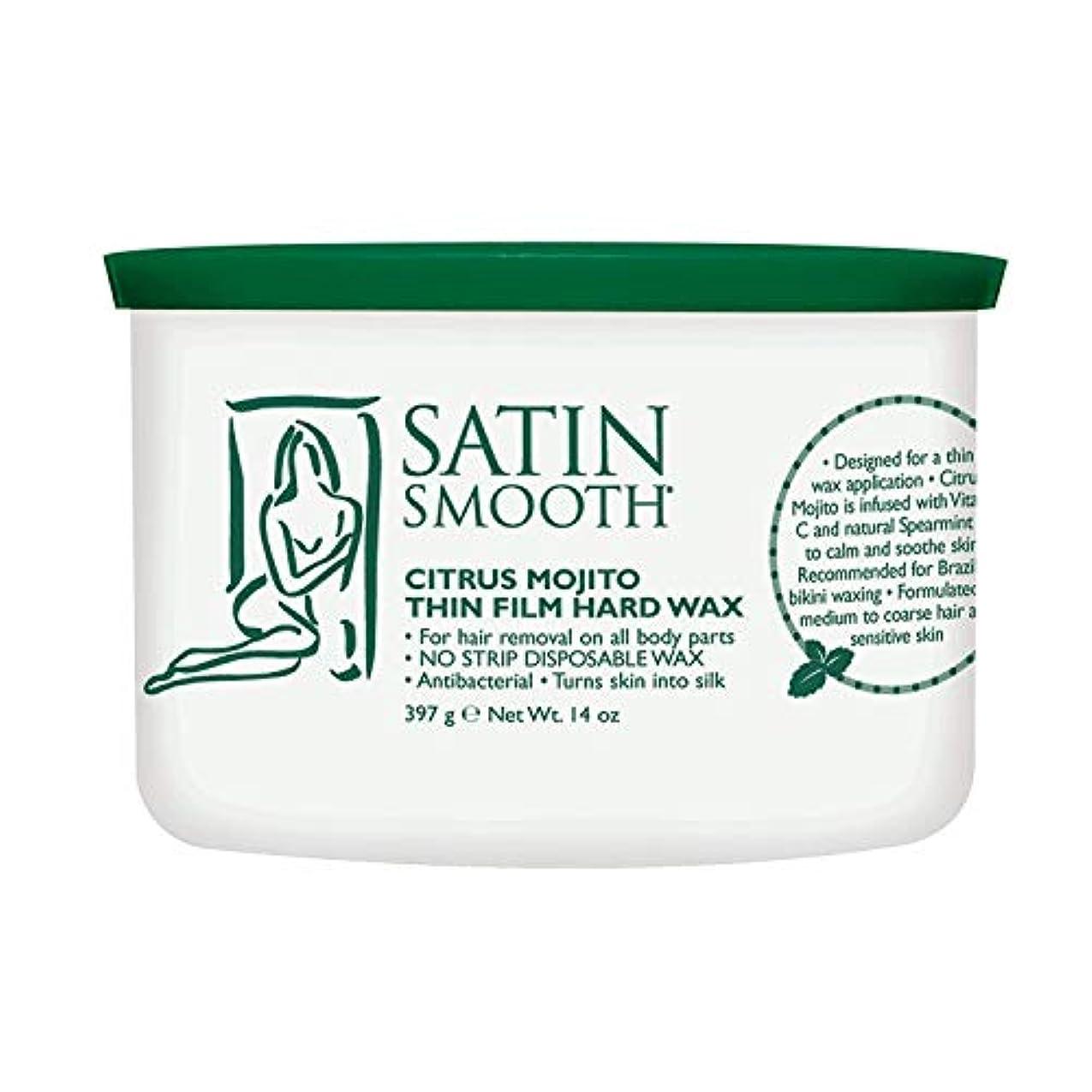 名前ロードブロッキング漏斗Satin Smooth Citrus Mojito Thin Film Hard Wax (並行輸入品)