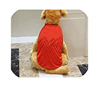 ゴールデンレトリバークールメッシュ布ペット犬服シャツ、ショー9、XXXL用ペット犬服ビッグドッグベストTシャツ