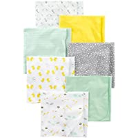 Simple Joys by Carter's Baby Unisex 7-Pack Flannel Receiving Blankets Grey/White/Mint One Size [並行輸入品]