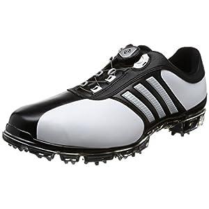 [アディダスゴルフ] ゴルフシューズ ピュアメタル ボア プラス pure metal Boa PLUS ホワイト/シルバーメタリック/コアブラック 26 cm 3E