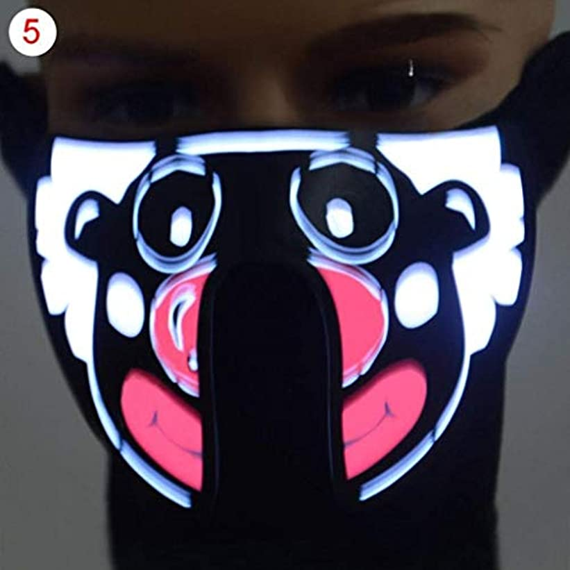 ハロウィーン新年パーティーネックフードのフェイスマスク (Color : 1)