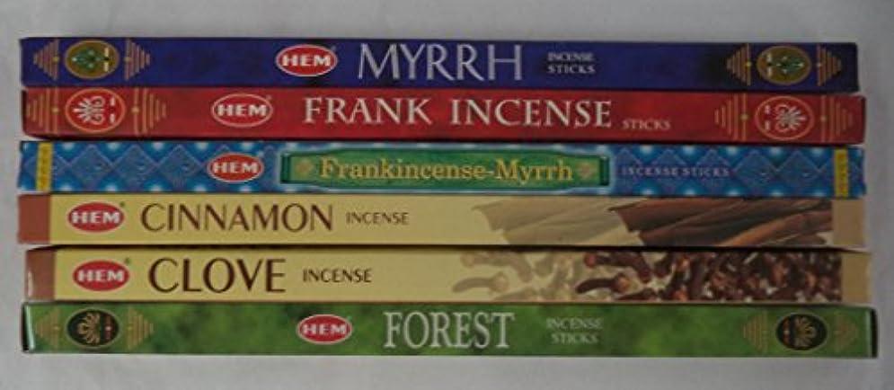 見込みベックス恐怖症裾クリスマスIncense Assortment : 6ボックスX 8スティック、合計48 Sticks
