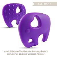 Lil' Teethers Baby Teething Toys. Bendable & Freezer friendly. Highly Recommended by Moms. 100% Silicone (similar to nipples & pacifiers), BPA & Phthalates Free, FDA Compliant. Elephant by LilTeether
