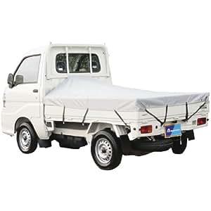 ボンフォーム 荷台シート 防水 軽トラック用 シルバー 177X210cm ゴムバンド×12/アングルポスト固定用丸ヒモ×2 6650-01SI