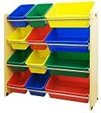 ottostyle.jp TOY BOX (トイボックス) おかたづけ収納ラック スタンダードタイプ (4段タイプ)【ナチュラル×カラフルボックス】 おもちゃ箱/おもちゃ収納ボックス