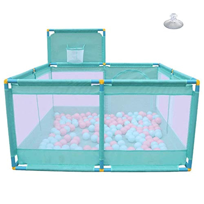 ベビーサークル, 幼児用セーフティフェンス - 128×128×66cm、8-パネルプレイヤード (色 : Green)