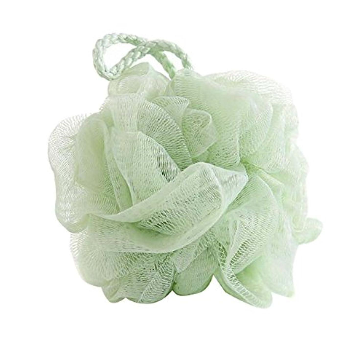 衣服窒素名前を作る柔らかいバスボール美しいラビングバスタオル、グリーン
