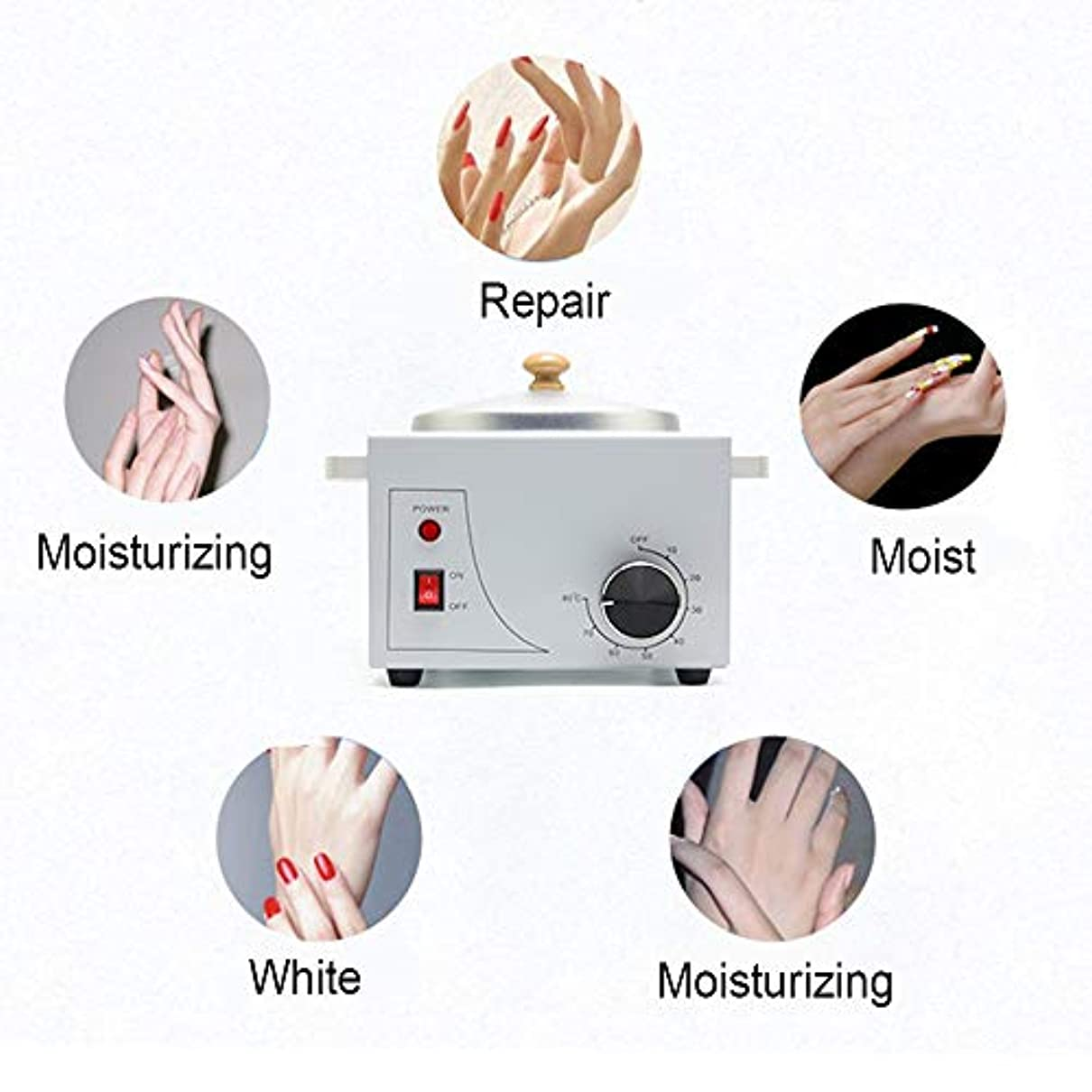 祈る損なう作る携帯用電気ホットワックスウォーマーマシン可変温度での脱毛、プロフェッショナルシングルポット電気ワックスウォーマーマシンの