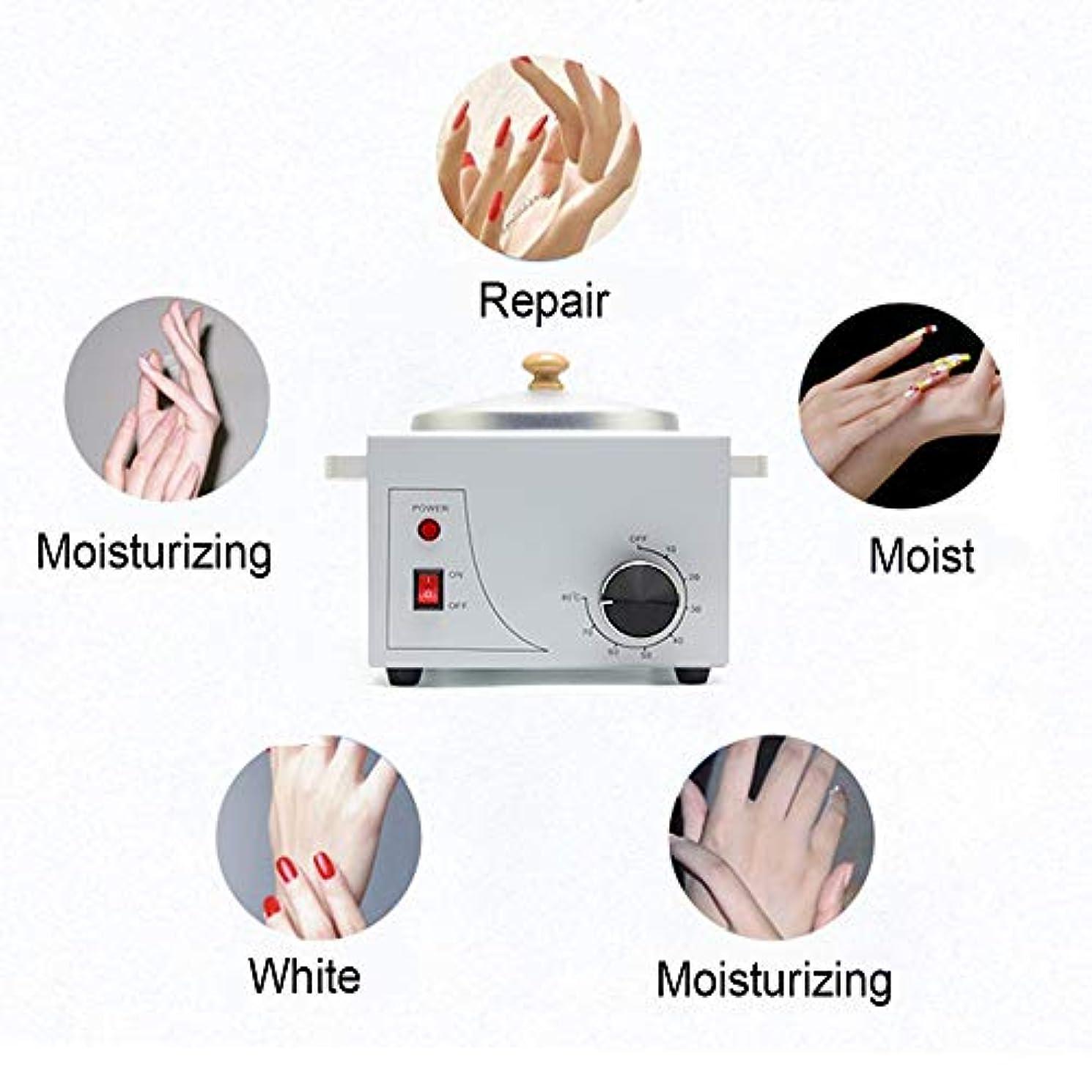 叙情的な湾カスケード携帯用電気ホットワックスウォーマーマシン可変温度での脱毛、プロフェッショナルシングルポット電気ワックスウォーマーマシンの