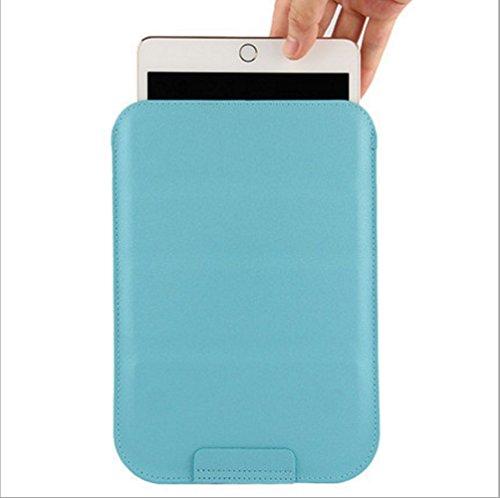 タブレットケース 8 インチ 8寸対応 バッグ型 ポーチ型 ゼンパッド3 スリム スタンド変形 レザーケース Zenpad 3 8.0 Z581KL ipad mini、ipad2(7.9-8.2寸のタブレットに対応しています) ブルー