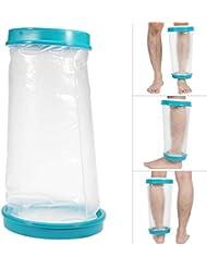 シャワー&お風呂用防水キャストカバー、大人の傷の骨折足足の膝のための再利用可能な防水傷包帯プロテクター