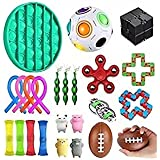 24Pcs Fidget Toy Set, Sensory Toys Pack Cheap for Kids Adults, Stress Relief and Anti-Anxiety Tools, Fidget Box with Simple D