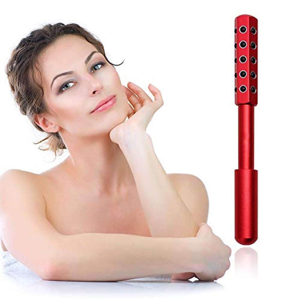 忌み嫌う入る野な顔と体のためのゲルマニウムマッサージ美容ローラーは、血液の循環を促進し、皮膚の引き締め、毒素、皮膚の抗しわをクリア