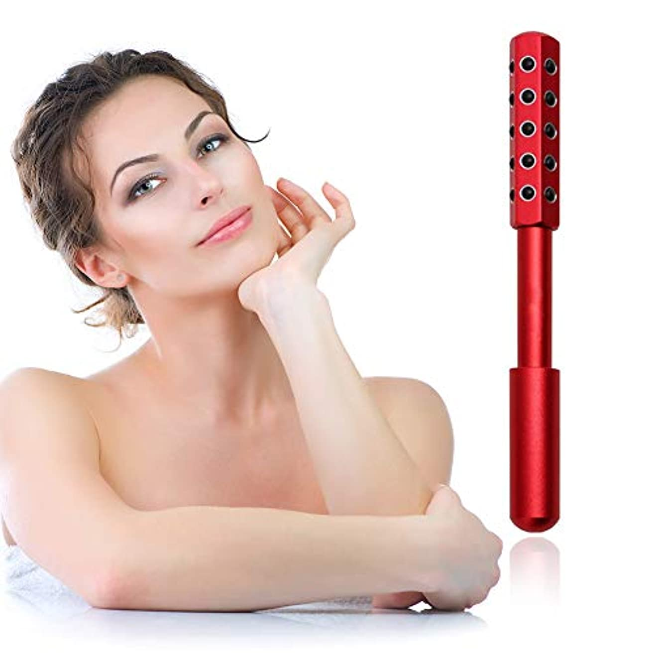 説明共産主義者挨拶顔と体のためのゲルマニウムマッサージ美容ローラーは、血液の循環を促進し、皮膚の引き締め、毒素、皮膚の抗しわをクリア