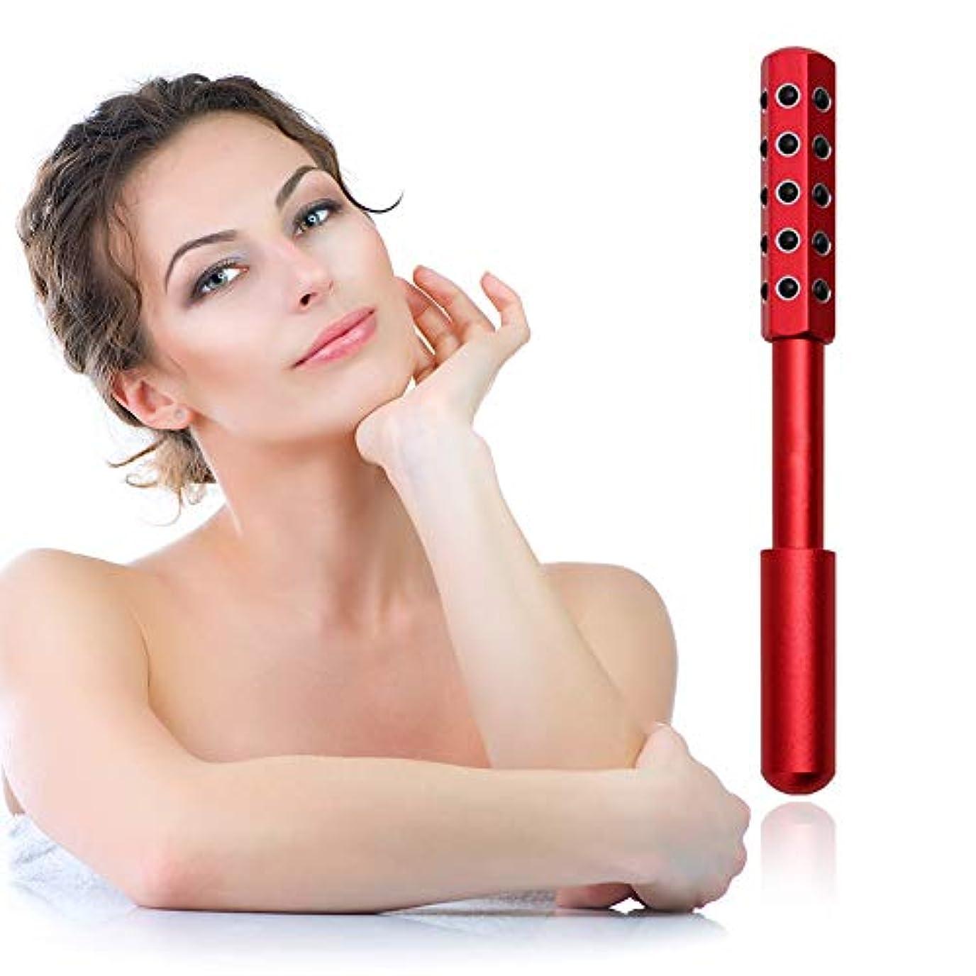 リズム喜んでオピエート顔と体のためのゲルマニウムマッサージ美容ローラーは、血液の循環を促進し、皮膚の引き締め、毒素、皮膚の抗しわをクリア