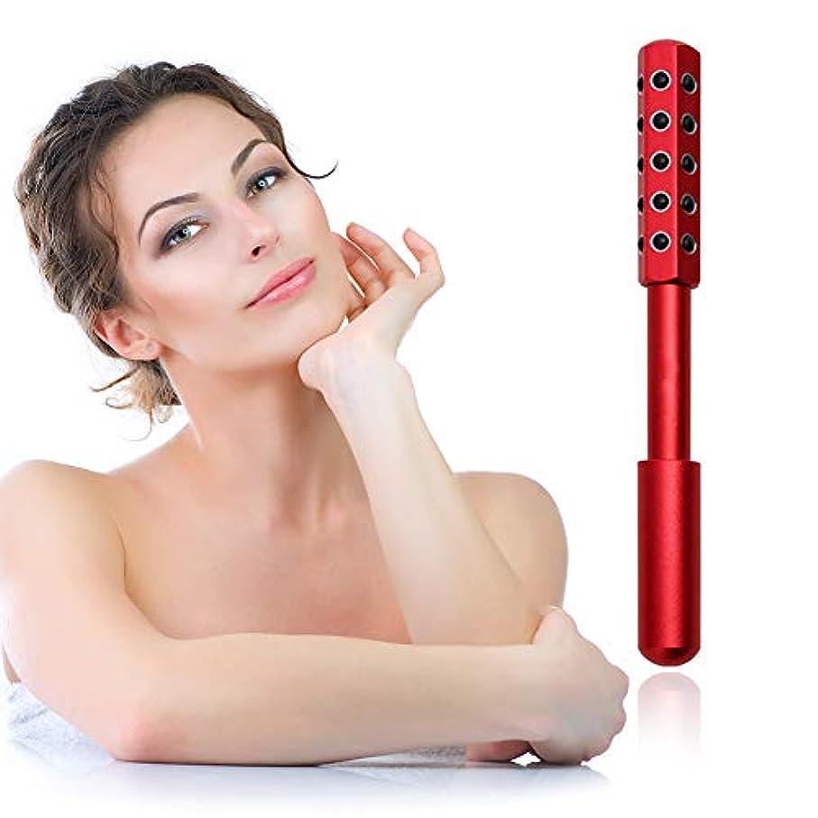 無し薄いです納税者顔と体のためのゲルマニウムマッサージ美容ローラーは、血液の循環を促進し、皮膚の引き締め、毒素、皮膚の抗しわをクリア