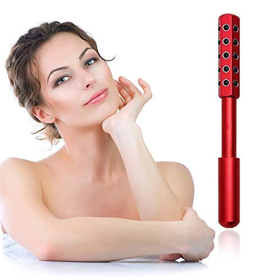 安定しました知的夫婦顔と体のためのゲルマニウムマッサージ美容ローラーは、血液の循環を促進し、皮膚の引き締め、毒素、皮膚の抗しわをクリア