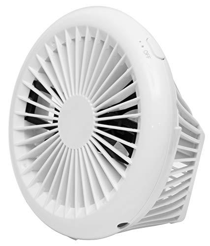 山善 扇風機 10cm 押しボタンスイッチ コンパクト デスクファン 風量2段階調節 2電源対応 AC USB ホワイト YPS-C101(W)