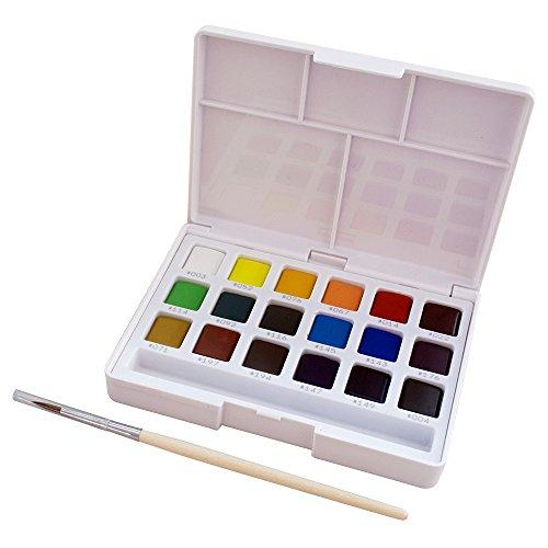 絵の具 固形水彩 プチカラー 18色 NCW-18