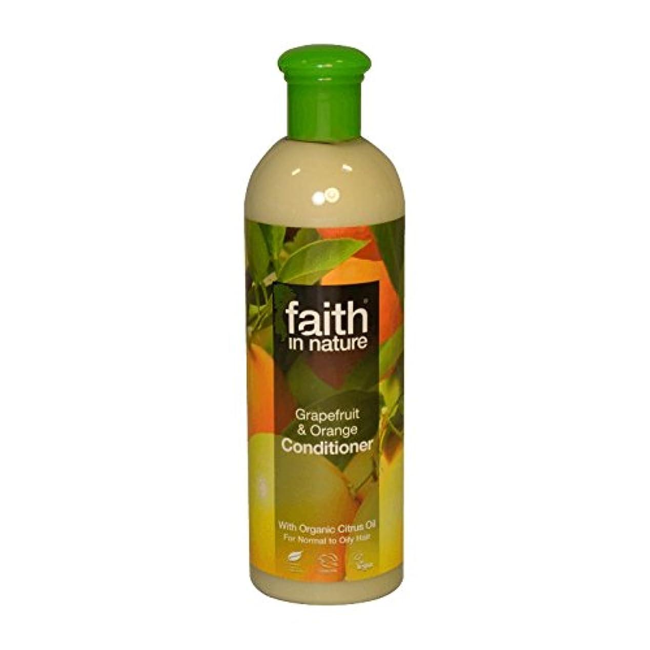 没頭するジェームズダイソン不潔Faith in Nature Grapefruit & Orange Conditioner 400ml (Pack of 2) - 自然グレープフルーツ&オレンジコンディショナー400ミリリットルの信仰 (x2) [...