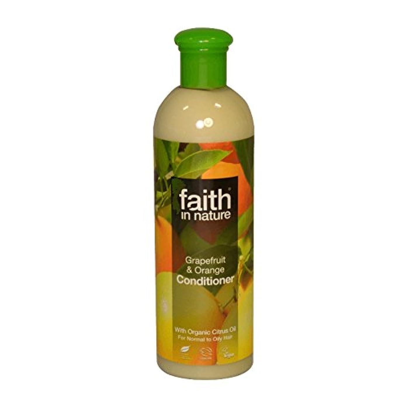 パニック吹きさらしこだわりFaith in Nature Grapefruit & Orange Conditioner 400ml (Pack of 2) - 自然グレープフルーツ&オレンジコンディショナー400ミリリットルの信仰 (x2) [...