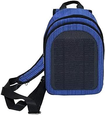 HAWEEL 5Vソーラーリュック 屋外緊急バックパックソーラー充電 USB出力 旅行ショルダーバッグ 超軽量ミニ防水リュック ソーラーパネル付 アウトドアバックパック